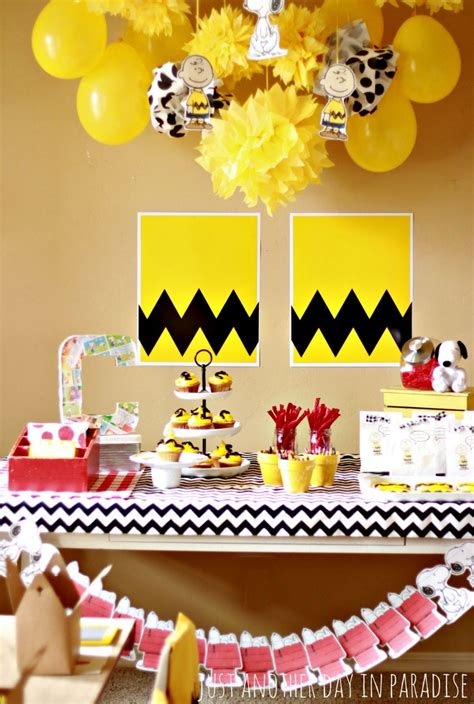 Snoopy Baby Shower Decoration Ideas  Free Printable Baby