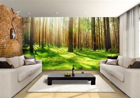 misty tree wallpaper design custom wallpaper mural print