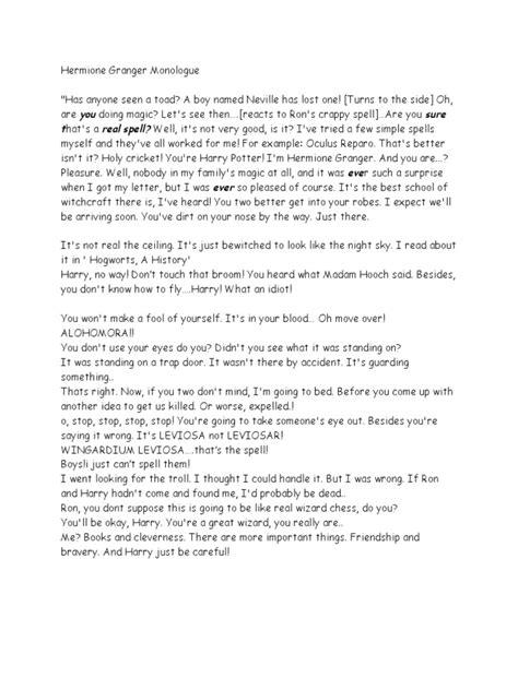hermione granger monologue