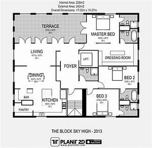 The Block Sky High 2013 Floorplan Planit2d