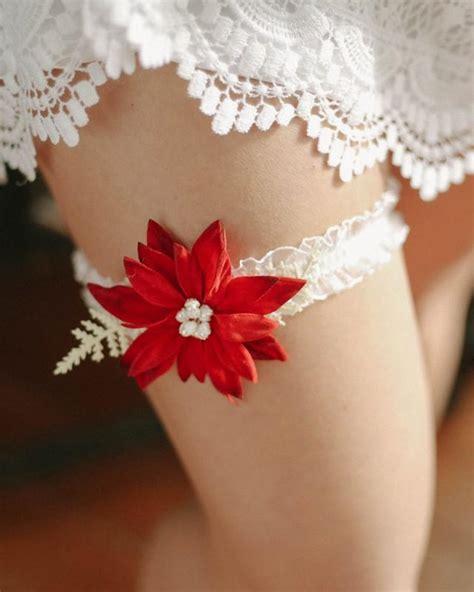 Christmas Garter, Winter Wedding Garter, Holiday Garter