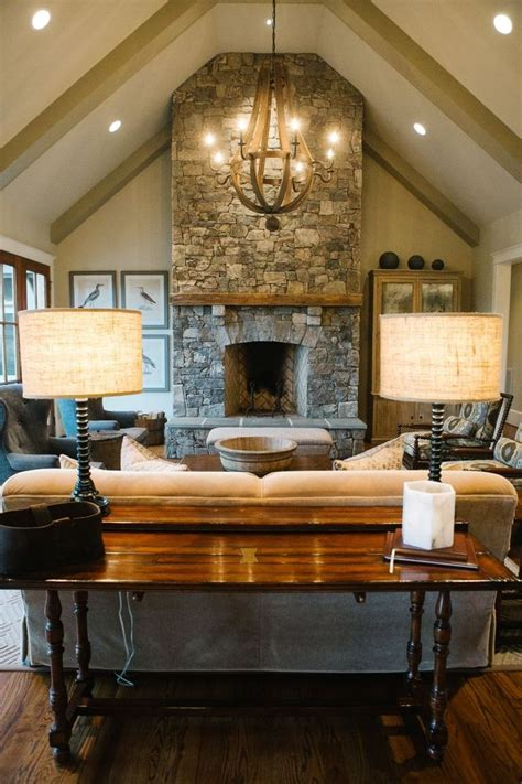 gorgeous living room   vaulted ceiling  exposed