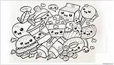 Pages Cute Coloring Printable Desserts sketch template