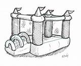 Bouncy Bounce Castle Clipart Drawing Pages Colouring Clipground Days Castles Paintingvalley Drawings Doodle sketch template