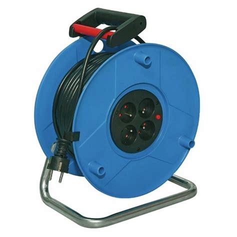 enrouleur cable electrique enrouleur c 226 ble 233 lectrique standard disjoncteur thermique 25m brennenstuhl bricozor