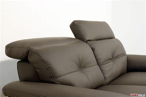 Divano Moderno In Pelle - divano moderno in pelle 2 e 3 posti con poggiatesta relax