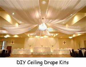 wedding ceiling decor draping kits With ceiling lights for wedding reception