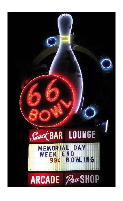 Neon Route Bowl Signs Waymarking Vegas