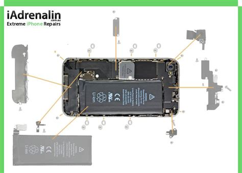 Iphone 4 Screw Chart Iadrenalin
