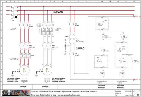 calcul puissance chambre froide seb03 schéma électrique de base départ moteur triphasé
