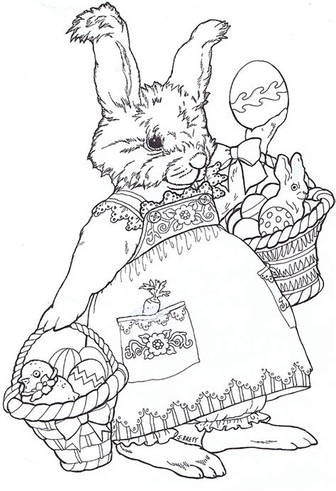 easter adult coloring inkspired musings bunny fever