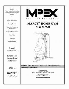 Pdf  Marcy Home Gym Mwm