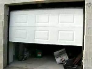motorisation porte sectionnelle youtube With porte de garage maguisa