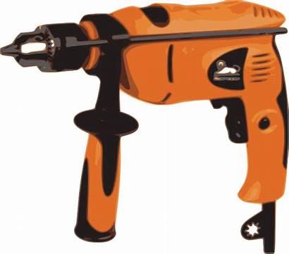 Drill Power Clipart Clip Corded Machine Boring