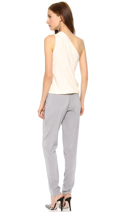 lulus jumpsuit ramy brook lulu jumpsuit fog pewter in gray lyst