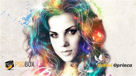 portrait effect  photoshop psd box photographie