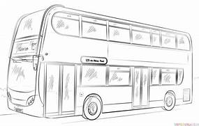 How to draw a double-decker bus   Step by step Drawing tutorials  Bus Drawing