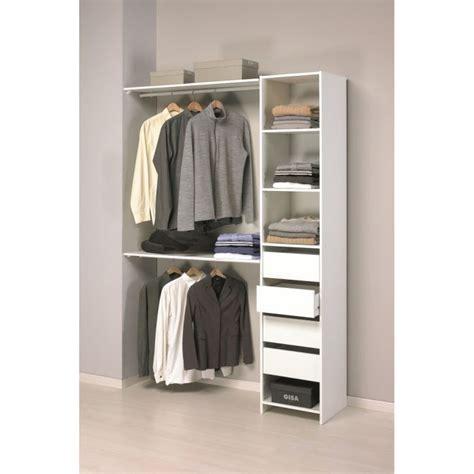 profondeur placard chambre skirt kit placard contemporain blanc l 141 cm achat