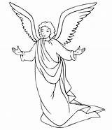 Angel Coloring Pages Print Printable Angels Christmas Adults sketch template
