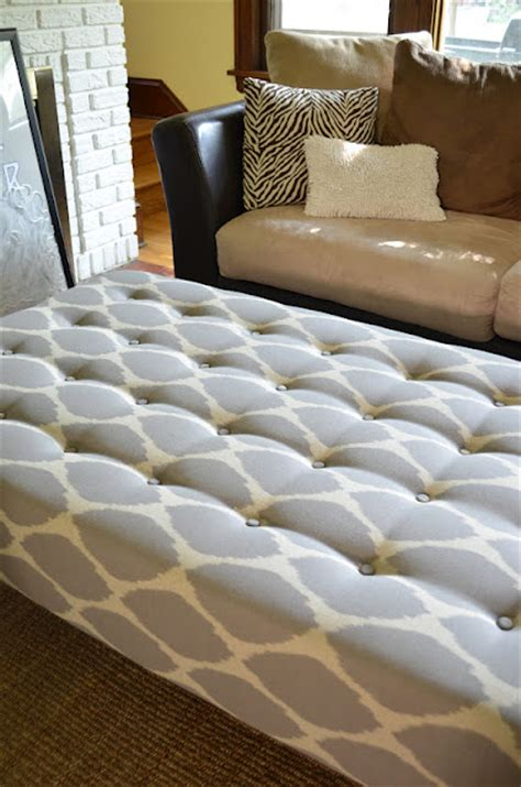 Make An Ottoman From A Coffee Table by Diy Upholstered Ottoman Coffee Tablediy Show Diy