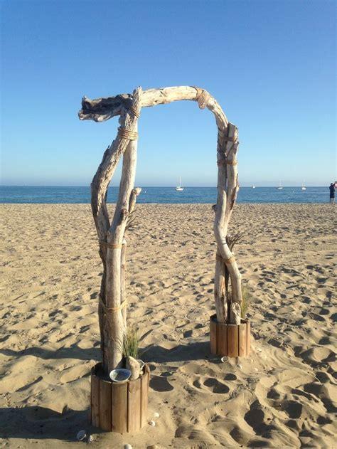 Beach Driftwood Wedding Arch In Santa Barbara Was Made By