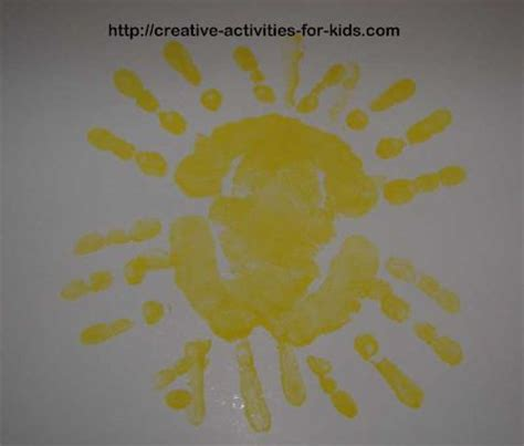 23 and handprint and footprint crafts for 858 | 20 Creative Activities for Kids Handprint Sun