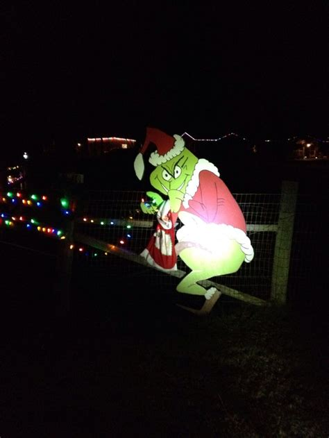 outdoor grinch stealing lights christmas ideas