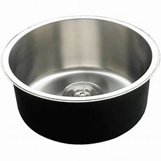 Round Deep Single Bowl Kitchen Sink With Timber Cutting
