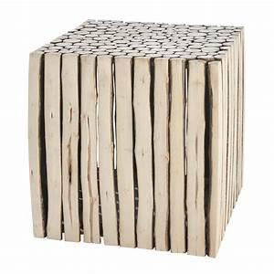 Bout De Canapé En Bois : bout de canap en bois l 38 cm rivage maisons du monde ~ Teatrodelosmanantiales.com Idées de Décoration