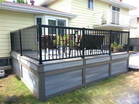 fiberon  maintenance composite deck edmonton modern