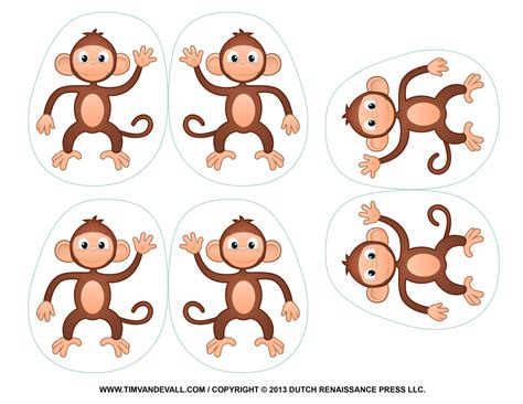 monkey template printable monkey clipart coloring pages crafts for