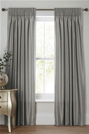 Bedroom Curtains Pencil Pleat by Buy Faux Silk Pencil Pleat Curtains From The Next Uk