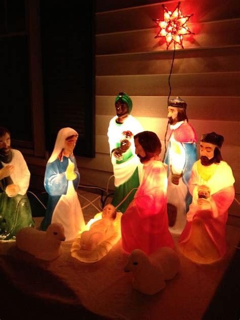 vintage christmas nativity sets images