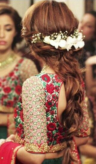 easy hairstyles   mehndi ceremony bling sparkle