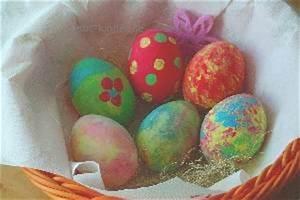 Ostereier Gestalten Kindergarten : kinderleicht und farbenfroh ausgeblasene eier mit fingerfarben gestalten abc kinder blog ~ Orissabook.com Haus und Dekorationen