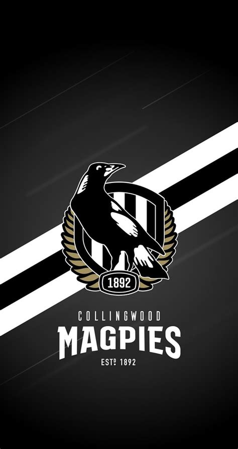 collingwood magpies iphone  lock screen wallpaper