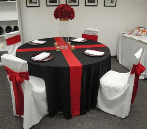 red and black table ls red white wedding table idea shows white with red chairs
