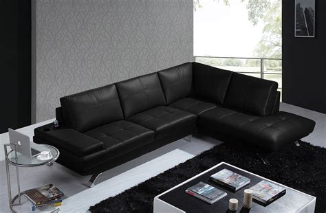 contemporary black leather sofa modern sectional leather sofas sectional sofa design