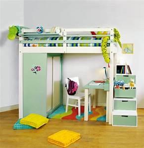Lit En Hauteur Enfant : un lit mezzanine pour enfant des id es en photos ~ Preciouscoupons.com Idées de Décoration