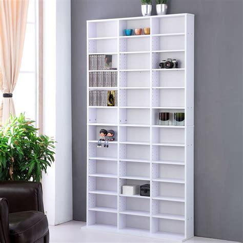 Cd Dvd Storage Shelf Rack Unit Adjustable Book Bluray