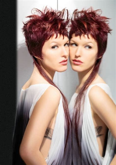 short hairstyle  wild textures    long extension