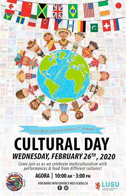 Cultural Multicultural Poster Events Lusu 7th Hosting