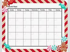 Blank Christmas Calendar Templates Calendar Template 2018