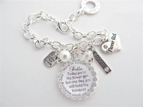 flower girl bracelet junior bridesmaid bracelet childrens