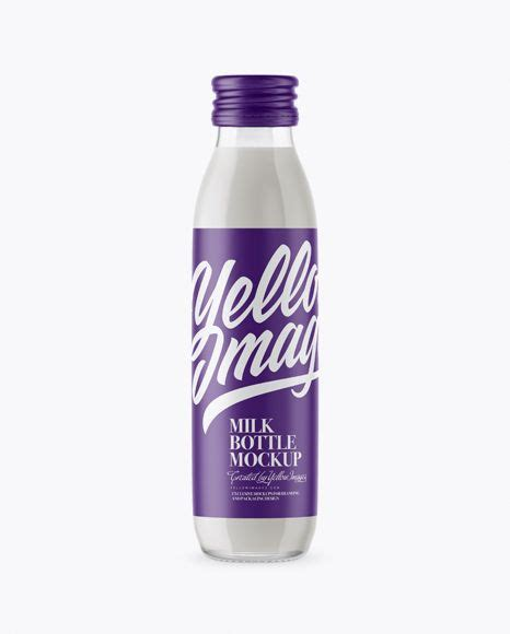 Present your design on this mockup. Milk Bottle Mockup Free Download - Download Frosted ...