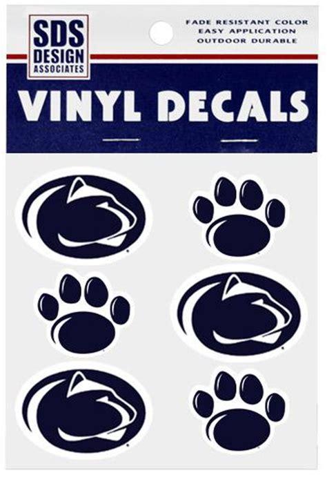 penn state paw  logo decal sheet souvenirs stickers