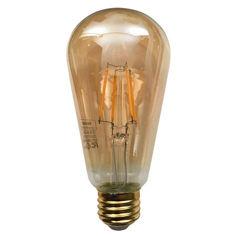 vintage led light bulbs meridian 40 watt equivalent warm white st20 dimmable 6842