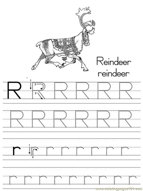 alphabet abc letter  reindeer coloring pages