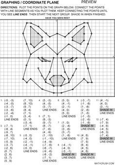 Printable Fun Coordinate Graph Worksheets  Graphing  Coordinate Plane Mathcrushcom Great