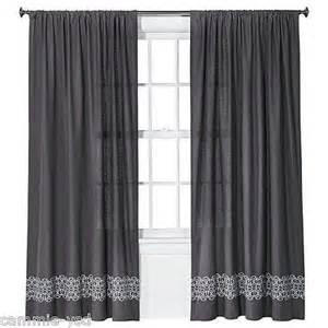 Nate Berkus Curtains 95 by Nate Berkus White Gray Mini Fringe Window Curtain Panel